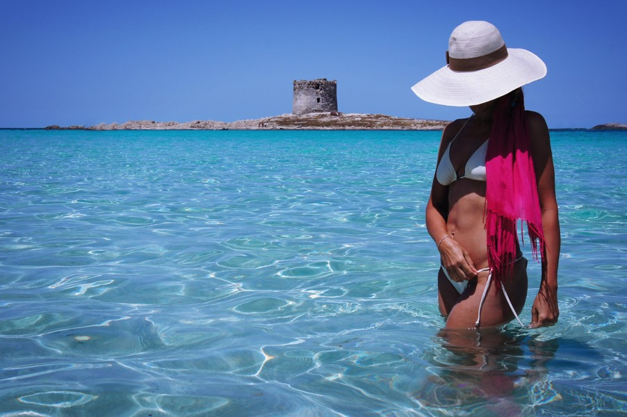 Isola Rosa - koupání na krásné pláži