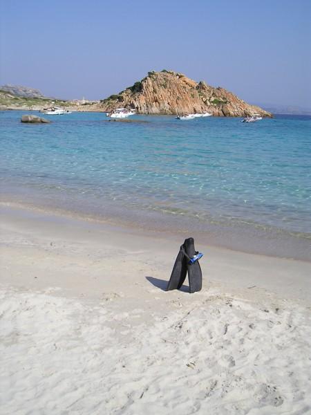 výlet na ostrovy - zde koupání na ostrově Budeli